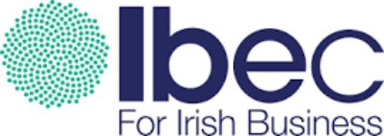 Ibec logo with tagline of For Irish Business