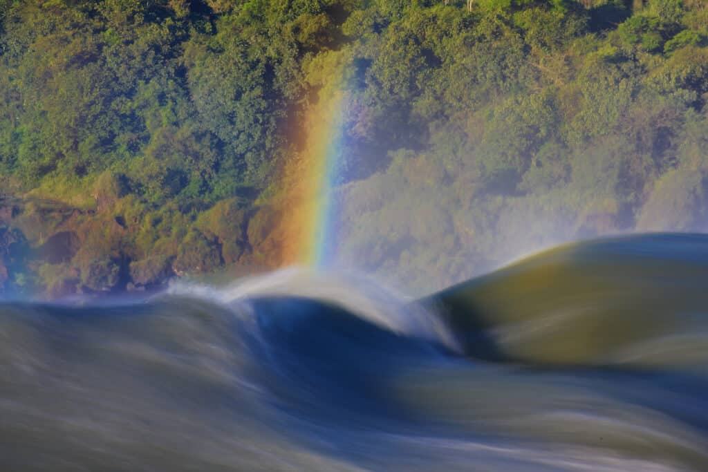 Comany ready for mindfulness? Image of rainbow over stream